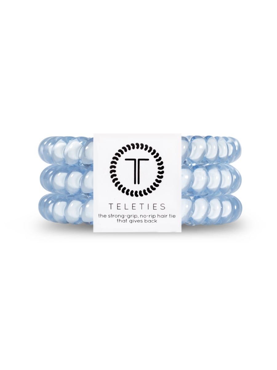 Teleties Small 3 Pack Hair Ties Washed Denim