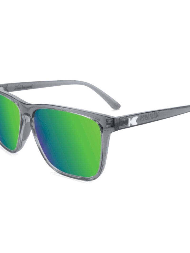 Knockaround Fast Lanes Sport Clear Grey/Green Moonshine
