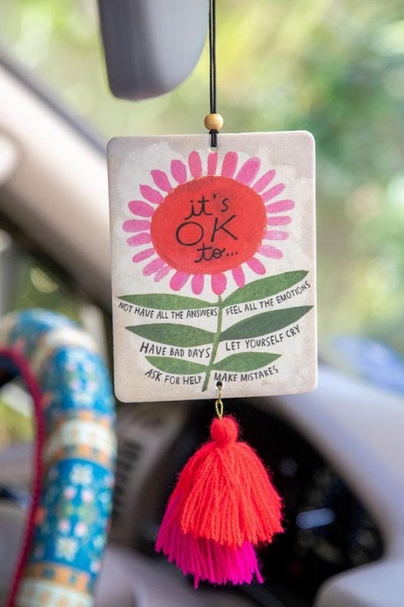 Natural Life Air Freshener Tassels  It's Okay To