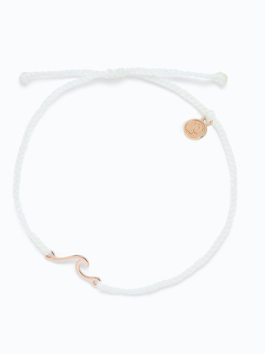 Pura Vida Shoreline Anklet  Rose Gold WHITE