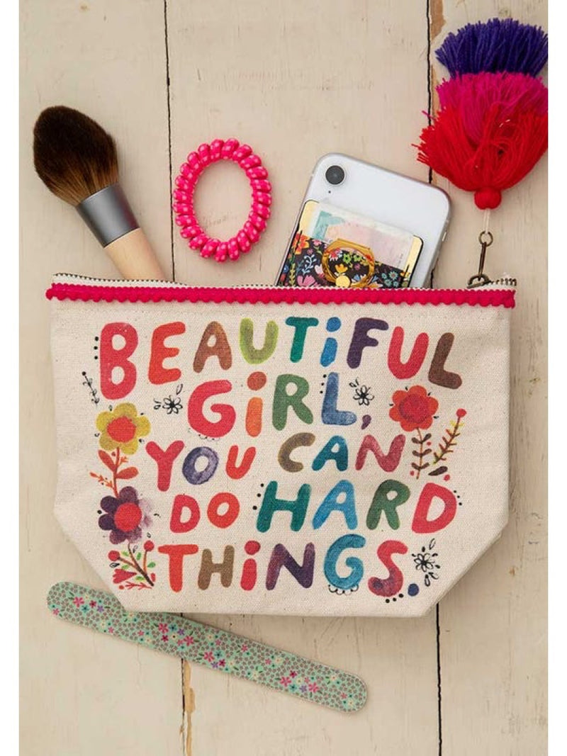 Natural Life Canvas Pouch Beautiful Girl