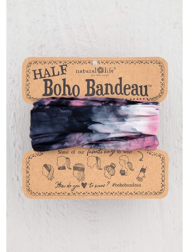 Natural Life Half Boho Bandeau Rose Black
