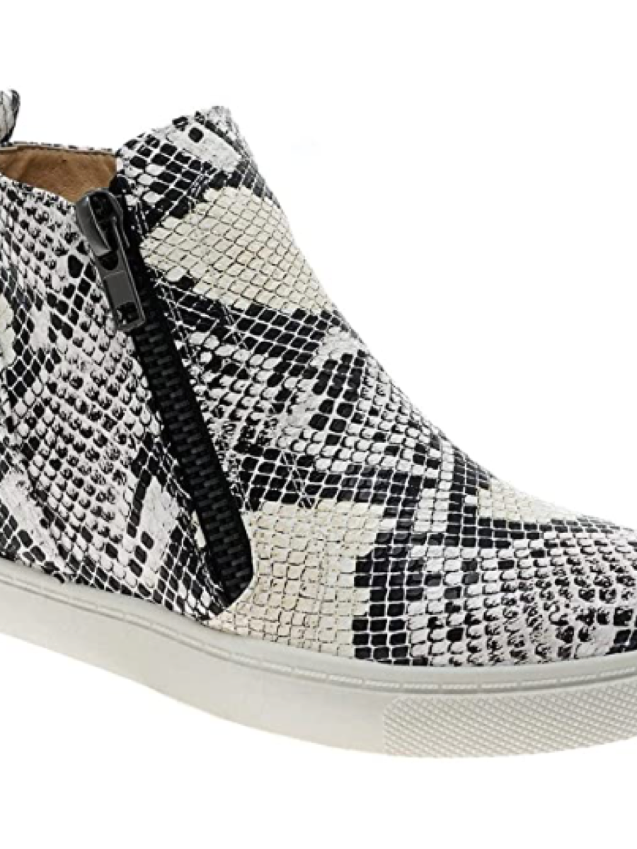 Outwoods Comfy Snake Skin Print Wedge