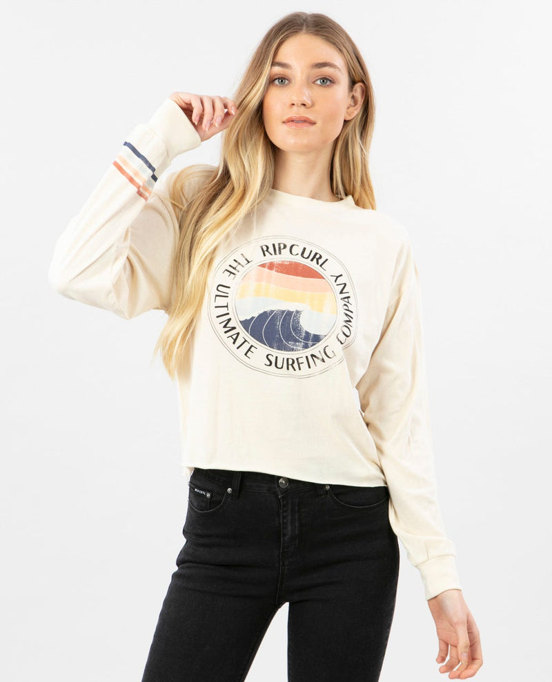 Rip Curl Ultimate Wave Cropped L/S Tee