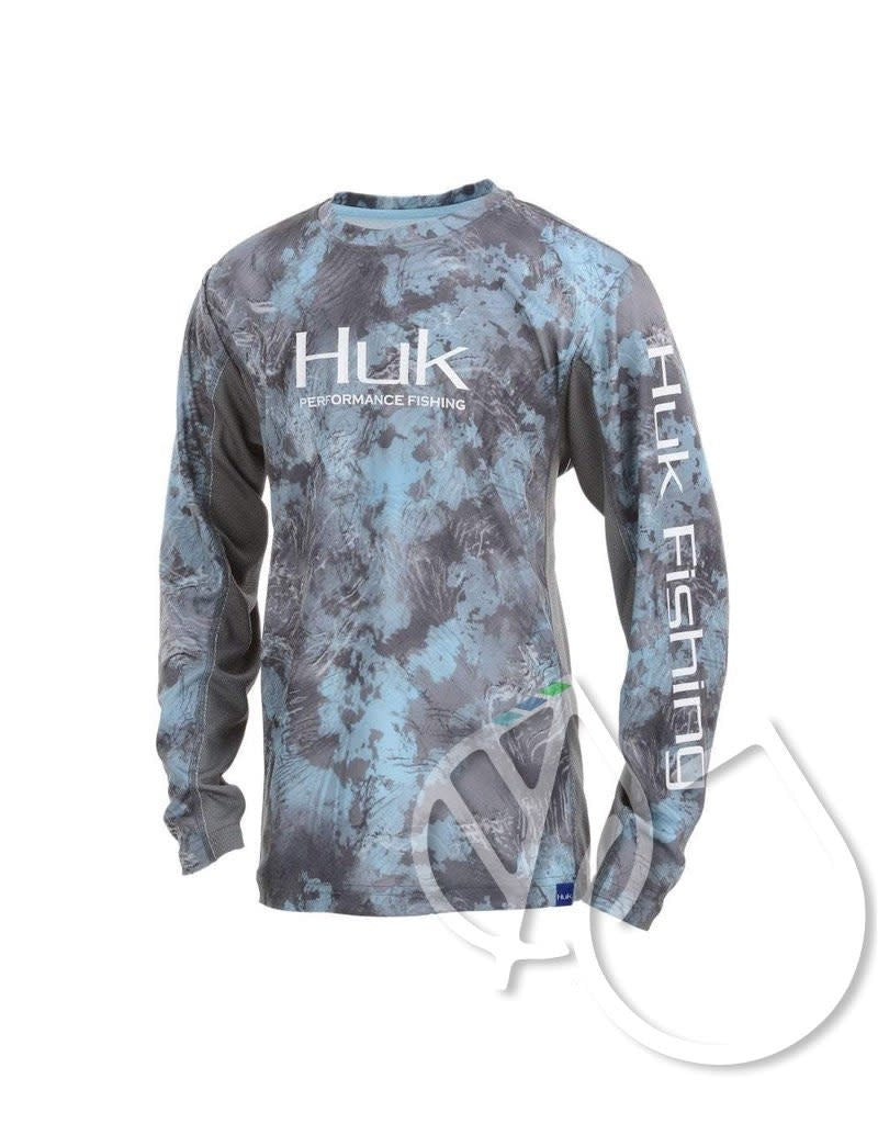 HUK YOUTH ICON X CAMO LS SHIRT