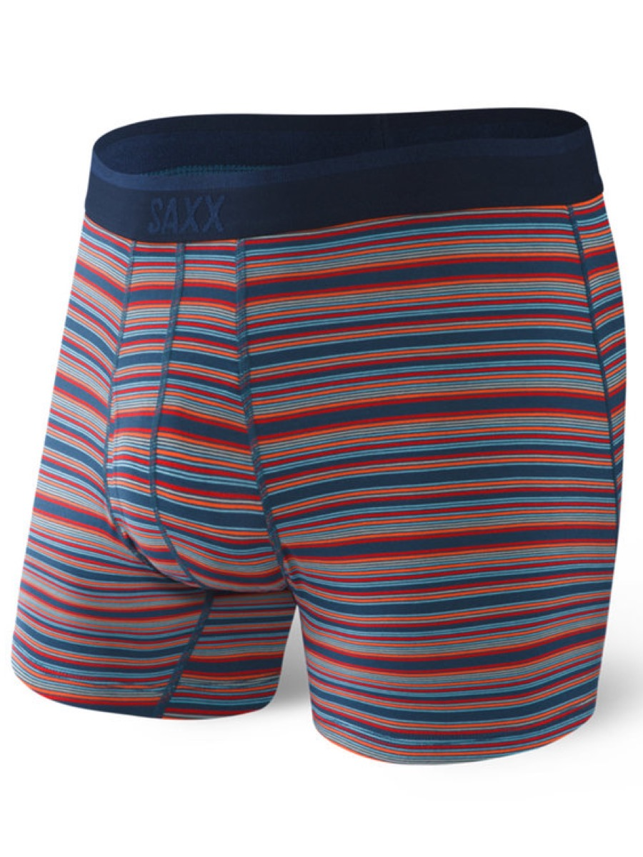 Saxx PLATINUM BOXER BRIEF FLY - BLUE MIRAGE STRIPE