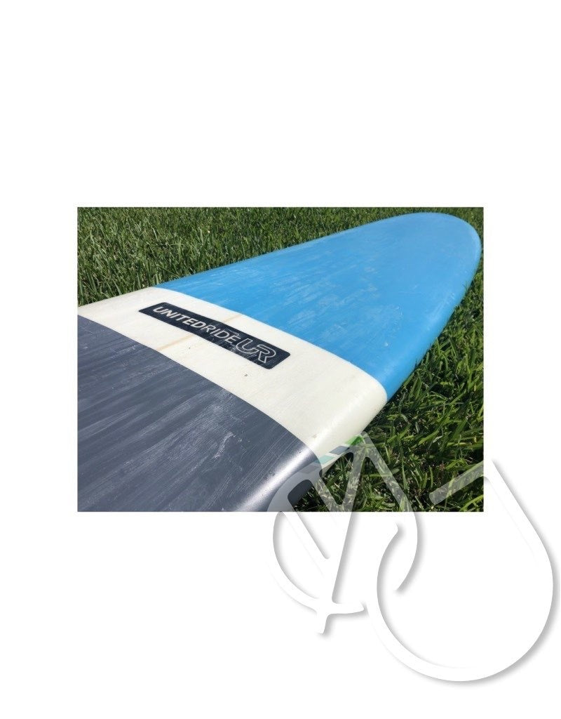 "United Ride Surfboard 9'0"" Blue/Gray -USED"