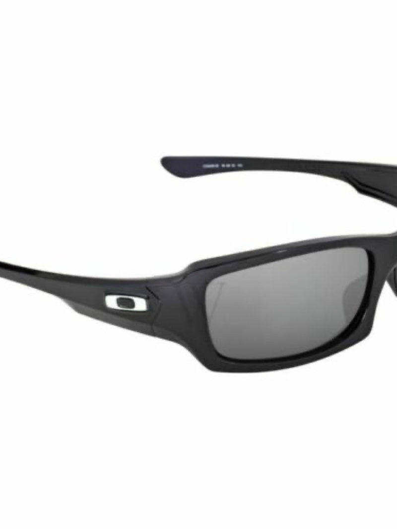 Oakley FIVES SQUARED POLISHED BLACK w/ BLACK IRIDIUM POLARIZED LENS 54