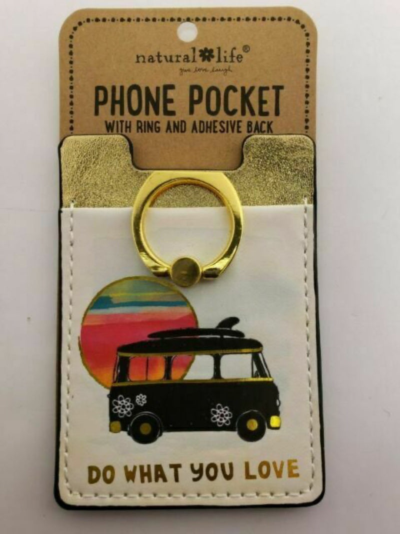Natural Life Phone Pocket Ring Do What You Love Van