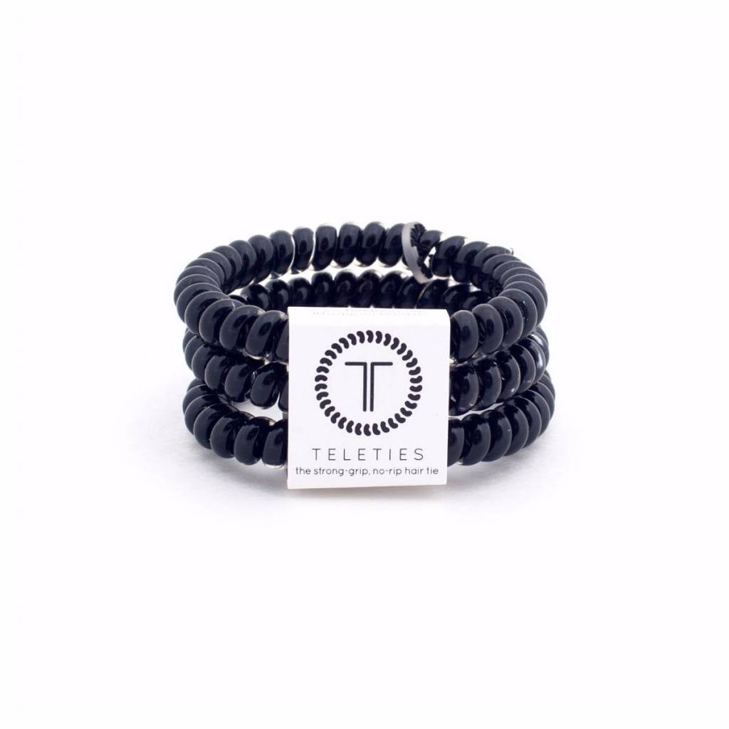 Teleties Small Hair Ties 3 pack Jet Black