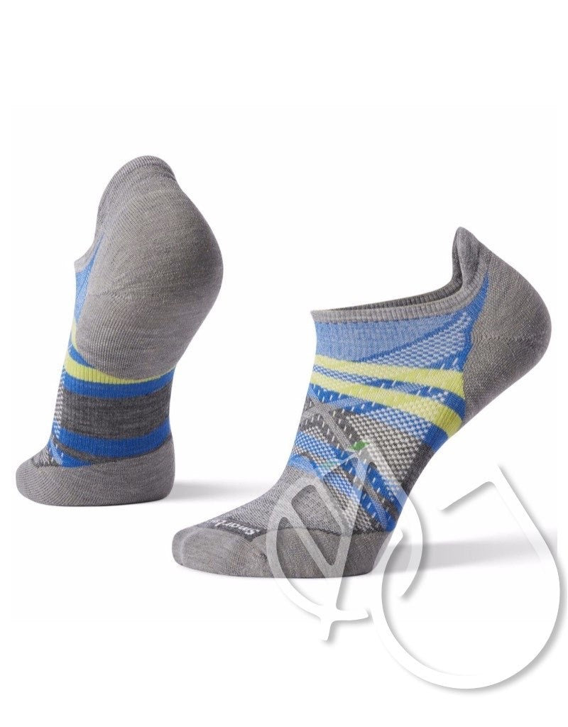 Smartwool PhD Run Light Elite Pattern Micro -L Light Gray