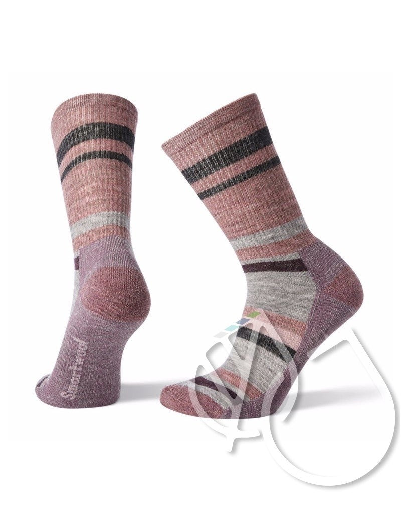 Smartwool Women Hike Striped Light Crew -M Nostalgia Rose