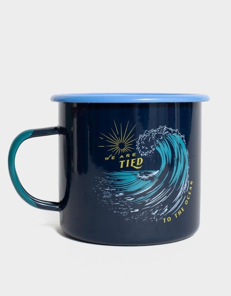 Tied To The Ocean 22 oz. Enamel Mug