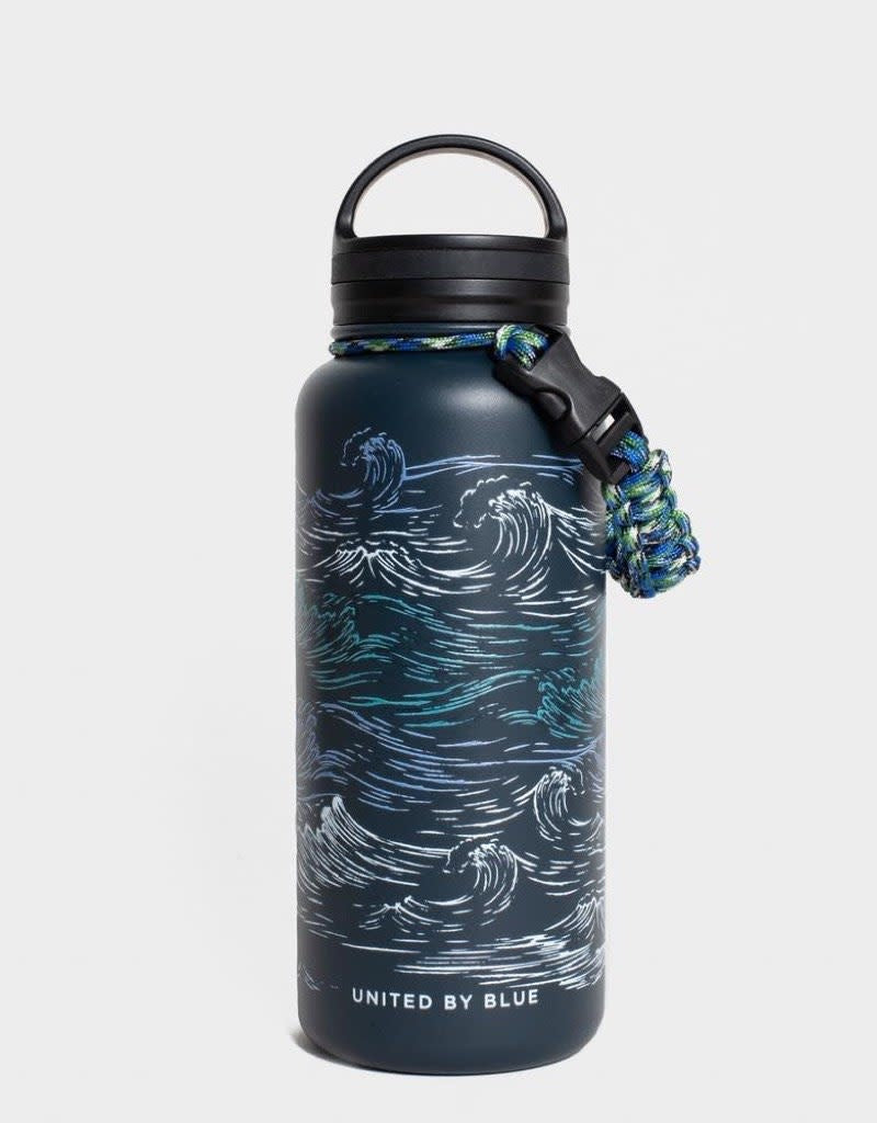Waves 32 oz. Insulated Steel Bottle