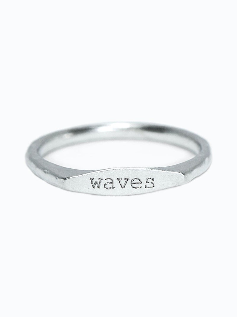 Pura Vida Stacking Ring  Waves 9
