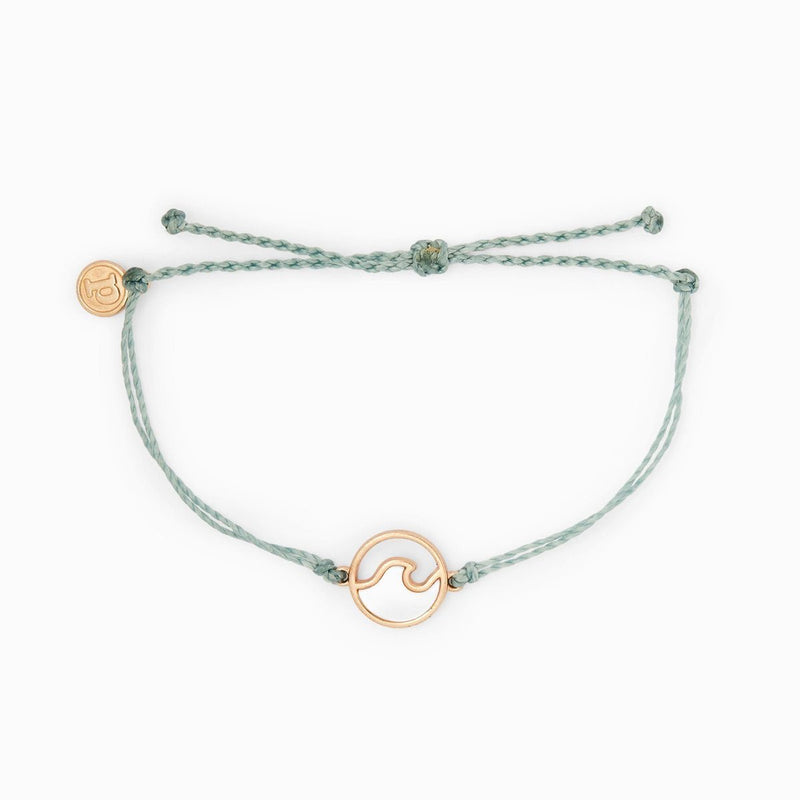Pura Vida Stone Wave Bracelet Rose Gold SMOKE