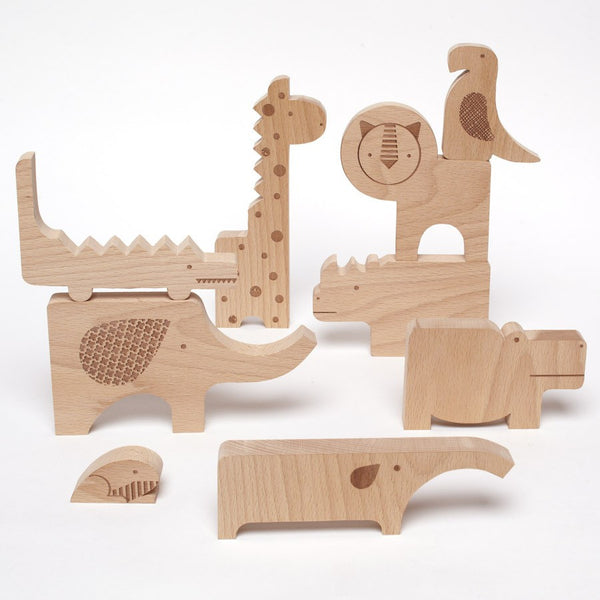 Safari Wood Puzzle & Play
