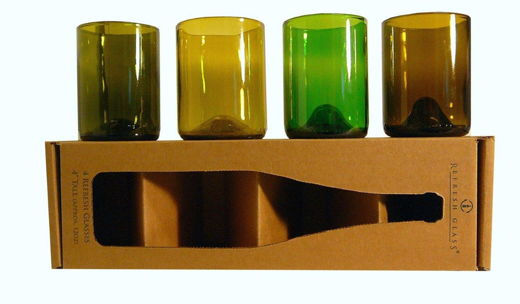 Recycled Wine bottle Glassware