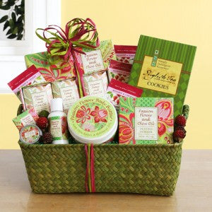 Passion Flower and Olive Oil Spa Basket (Free Shipping)