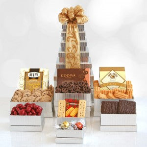 Shimmering Gourmet Gift Tower (Free Shipping)