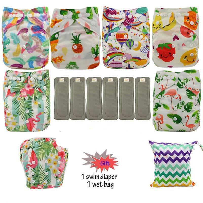 6 Ultimate Cloth Diapers and Inserts