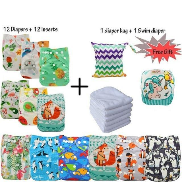 12 Ultimate Cloth Diapers With Microfibre insert