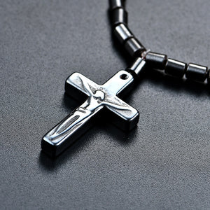 Jesus Cross Pendant Magnetic Beads