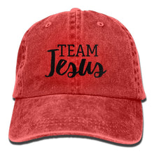 Load image into Gallery viewer, Team Jesus Denim Hat Adjustable Womens Tactical Baseball Caps