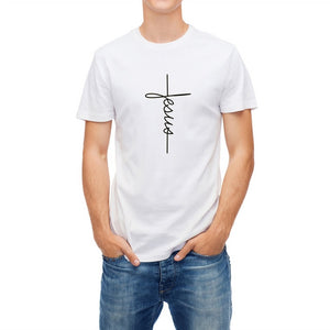 Jesus Christian Cross Printing T Shirts New Arrival Fashion