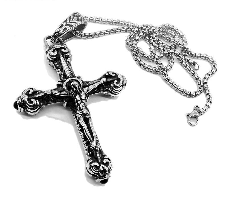 Religion Cross Jesus Pendant & Necklace