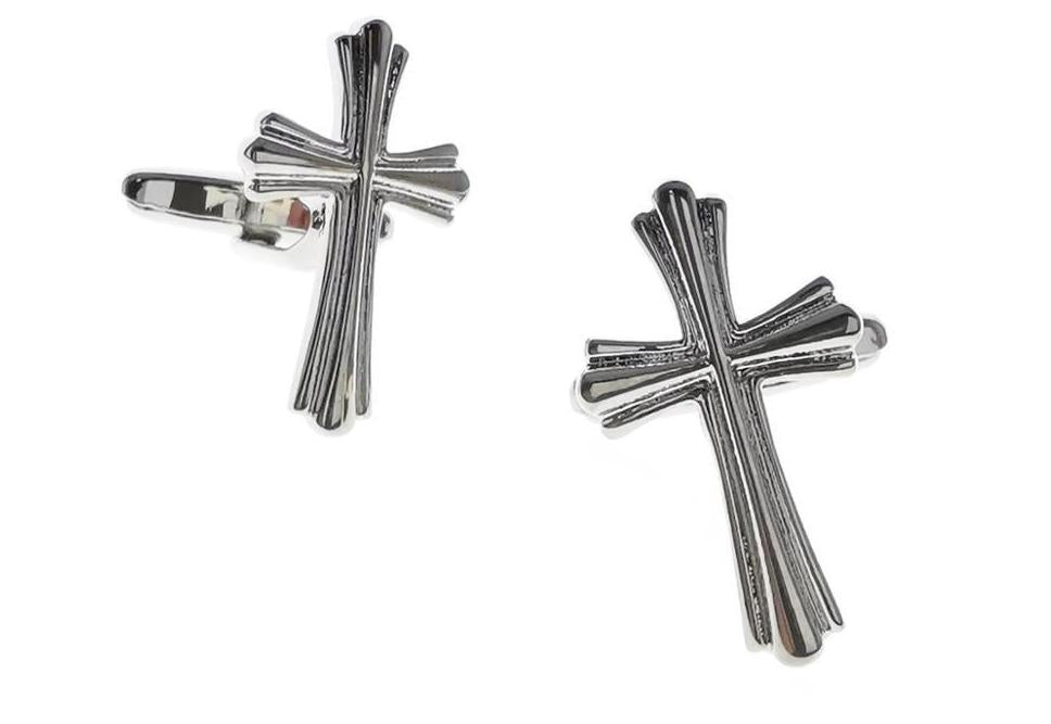 Mens Cufflinks Cross Religion Cufflinks