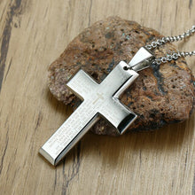Load image into Gallery viewer, Stainless Steel Prayer Cross Necklace