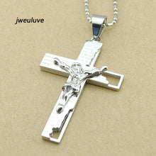 Load image into Gallery viewer, Jesus Cross Necklace Catholic Church