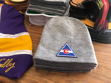 Load image into Gallery viewer, Beanie (Grey) with a Colorado crest / logo $29