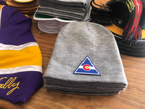 Beanie (Grey) with a Colorado crest / logo $29