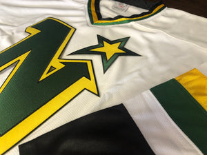 Custom hockey jerseys with North Stars logo