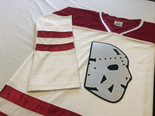 Load image into Gallery viewer, Custom Hockey Jerseys with a Twill Goalie Mask Logo $59