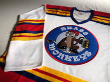 Load image into Gallery viewer, Custom hockey jerseys with the Brass Monkeys logo