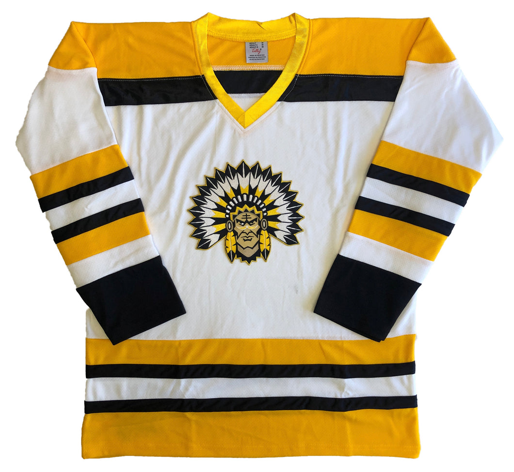 Custom Hockey Jerseys with an Indian Logo $59