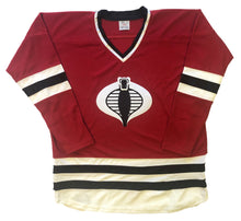 Load image into Gallery viewer, Custom hockey jerseys with the Cobra logo