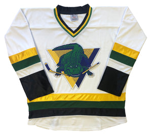 Custom hockey jerseys with the Gators logo