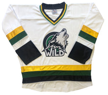 Load image into Gallery viewer, Custom hockey jerseys with the Wild team logo.