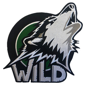 The Wild embroidered twill team logo.