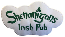 Load image into Gallery viewer, The Shenanigans Irish Pub embroidered twill team logo.