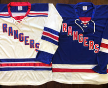 Load image into Gallery viewer, Custom Hockey Jerseys with Rangers in Twill Letters $59