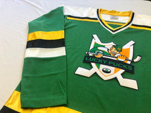 Load image into Gallery viewer, Custom Hockey Jerseys with the Lucky Pucks Twill Logo $59