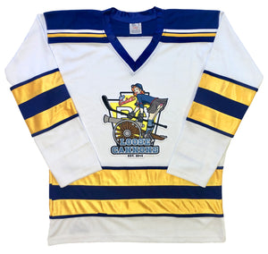 Custom Hockey Jerseys with the Loose Canons Twill Logo $59