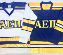 Load image into Gallery viewer, Custom Hockey Jerseys with the AEPi Twill Logo $59