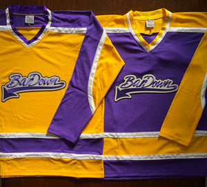 Custom Hockey Jerseys with the BarDown Embroidered Twill Logo $59