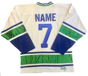 Custom Hockey Jerseys with a Rolling Rock Team Logo $59